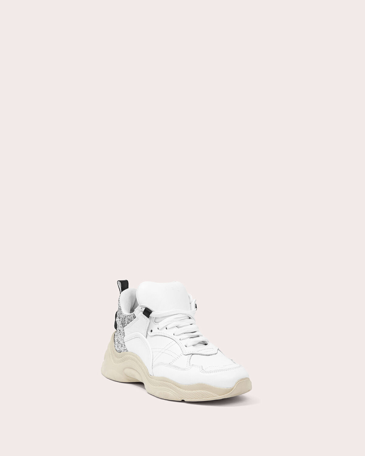 IRO - CURVERUNNER CHUNKY SNEAKERS WHITE/SILVER