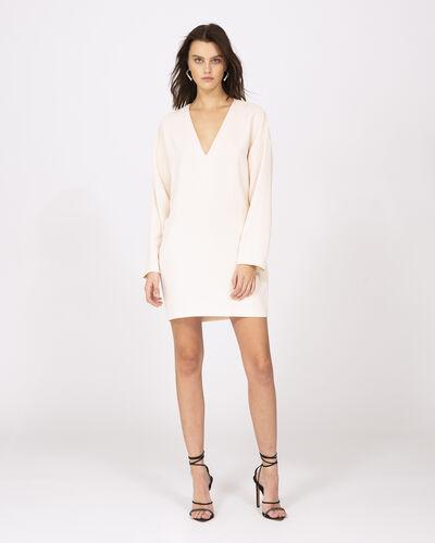 Iro Supple Dress In Sand White