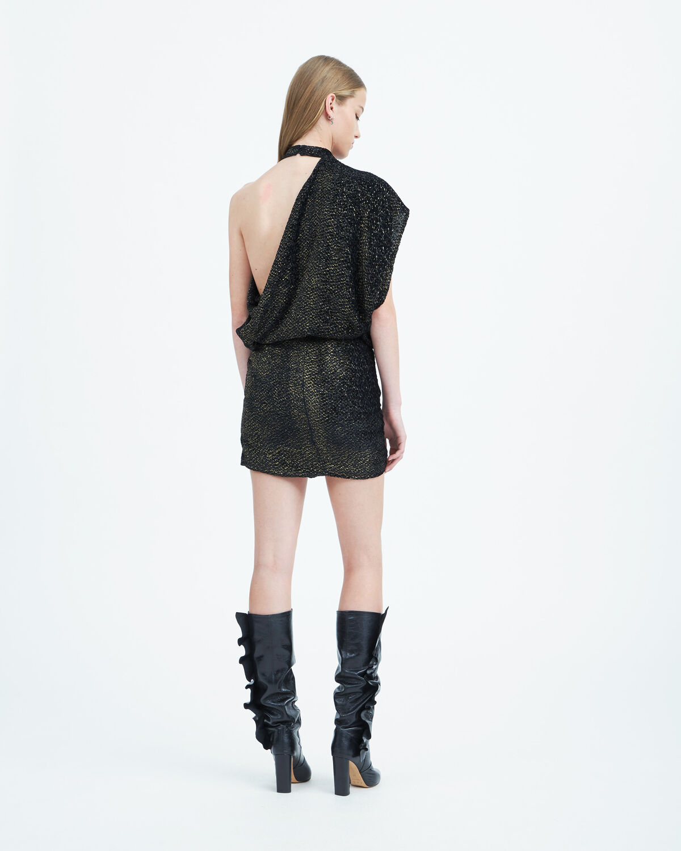 IRO - CLEM DRESS BLACK/GOLD