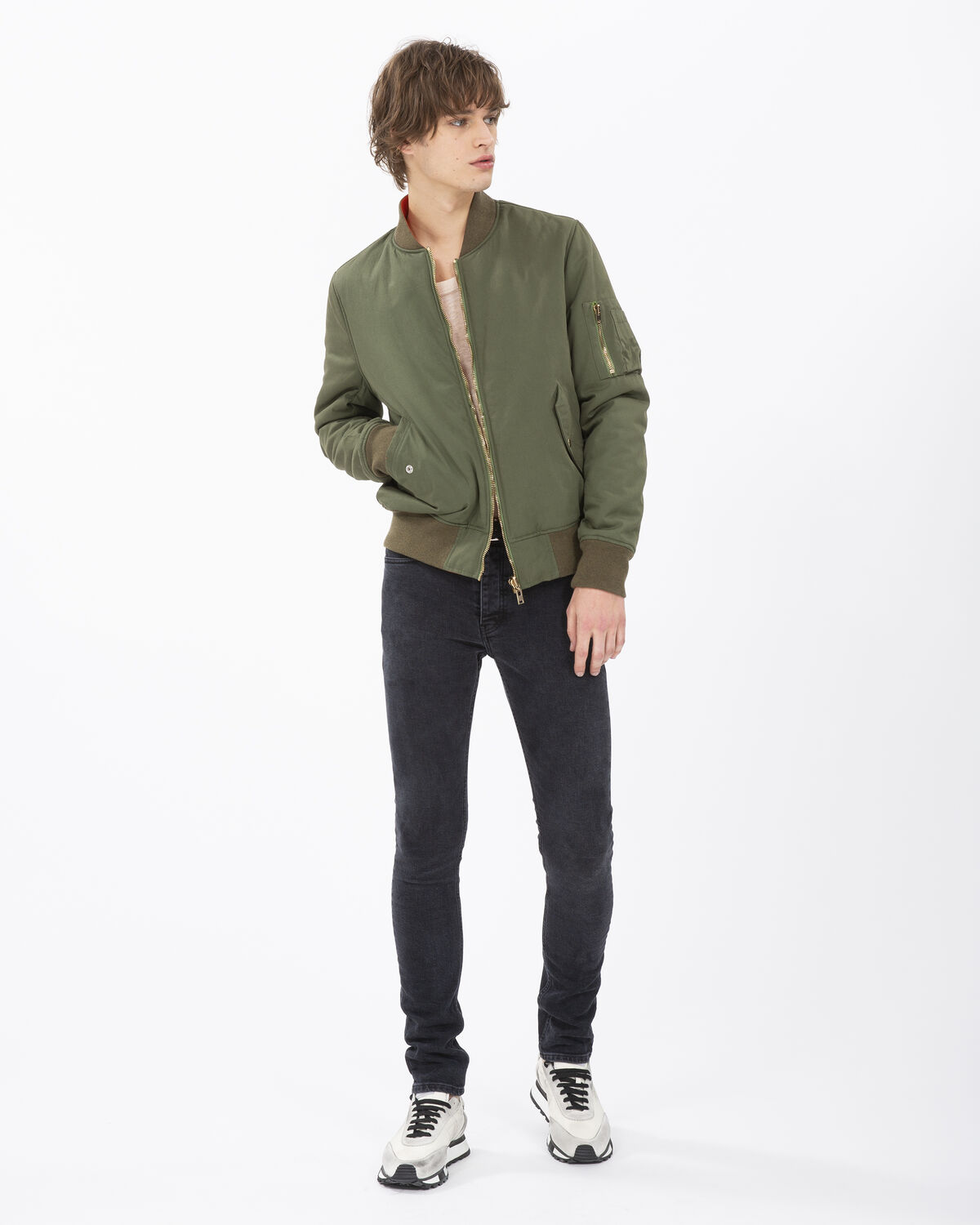 IRO - CRACKLE JACKET KHAKI