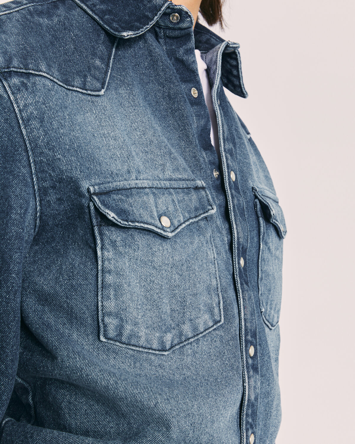 IRO - CHEMISE EN JEAN DÉLAVÉ TETSEN AUTHENTIC BLUE DENIM