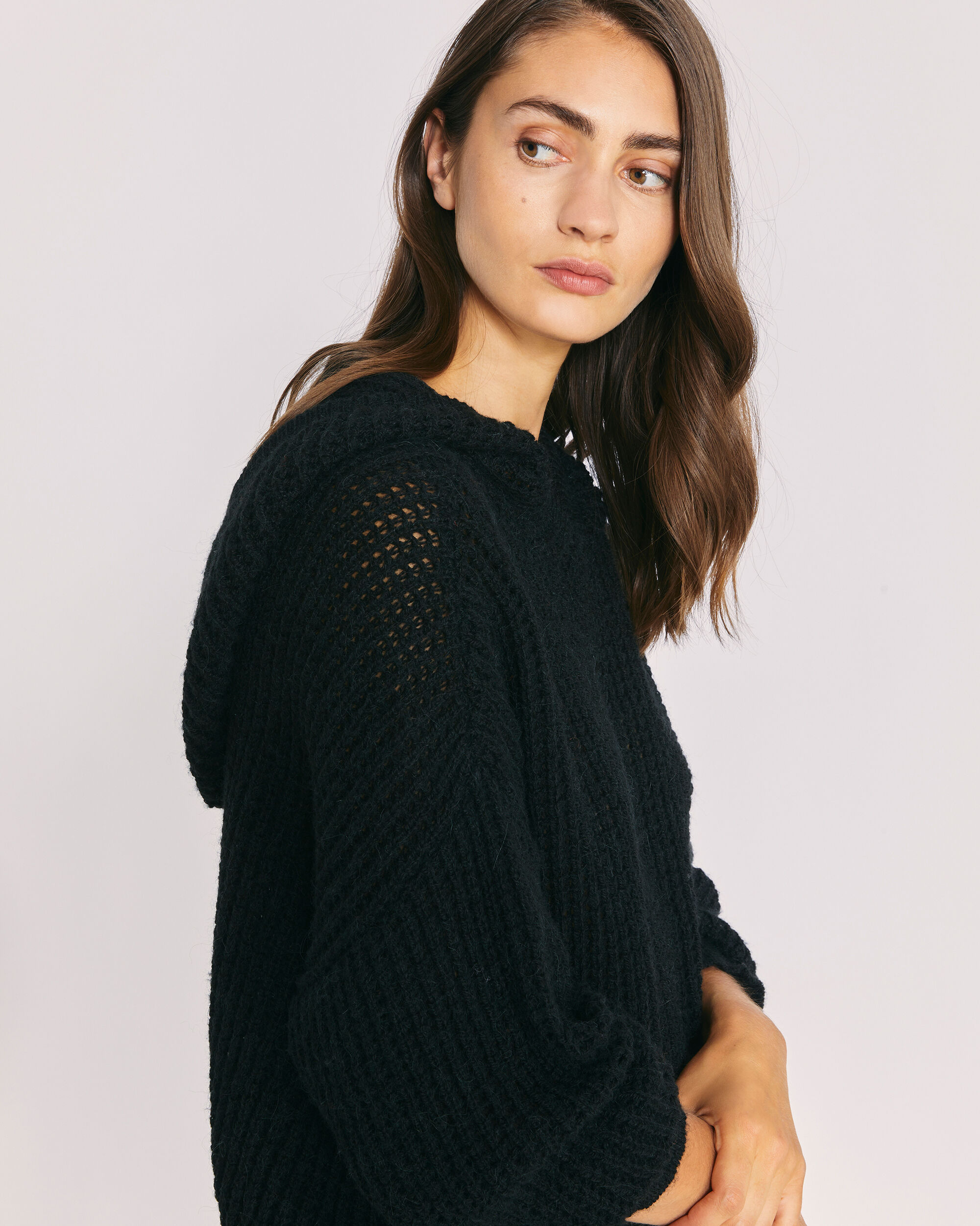 IRO SPOTY SWEATER,BLACK
