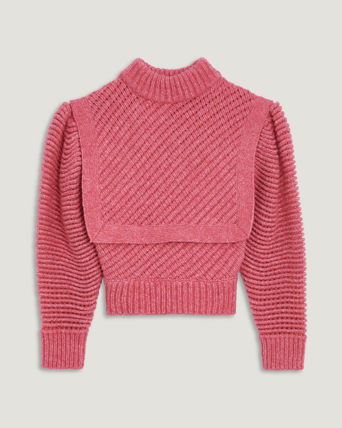 IRO - PULL COL MONTANT À PLASTRON JALYA MIXED PINK