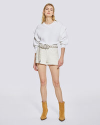 IRO - SHORT CEINTURÉ EFFET TWEED NANNIE OFF WHITE