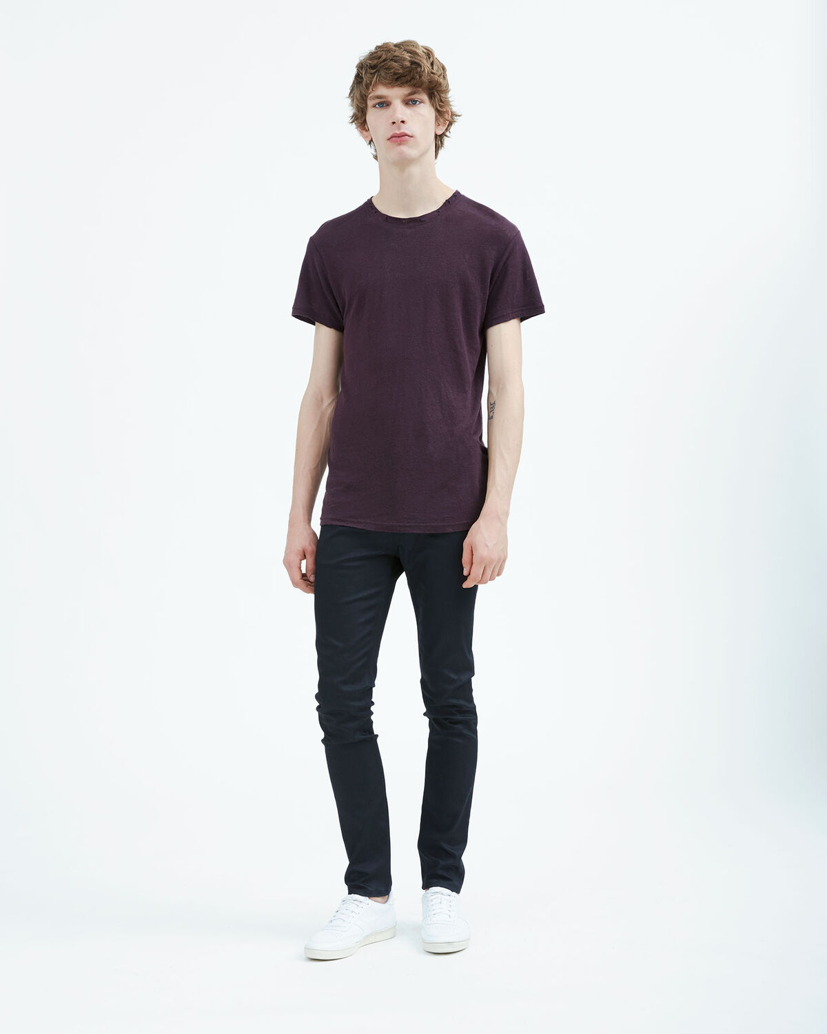 IRO - HALLY T-SHIRT BURGUNDY