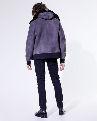 IRO - BLOUSON MODAR DARK GREY/BLACK