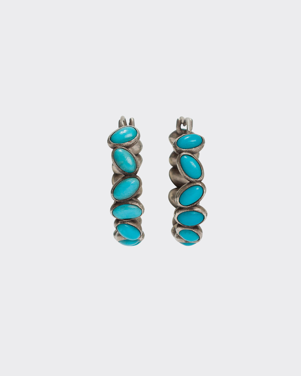 IRO - CANNA SILVER AND TURQUOISE BEAD EARRINGS TURQUOISE