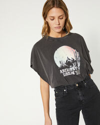 IRO - T-SHIRT SMOKY BLACK STONE