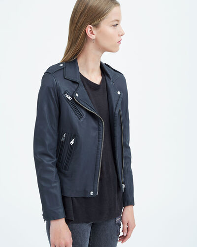 IRO - HAN LEATHER JACKET ANTHRACITE
