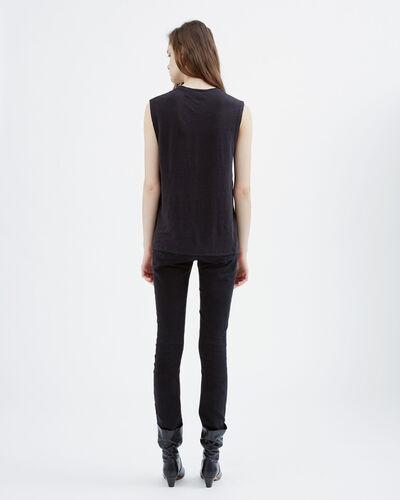 IRO - TIGANA T-SHIRT BLACK/ECRU