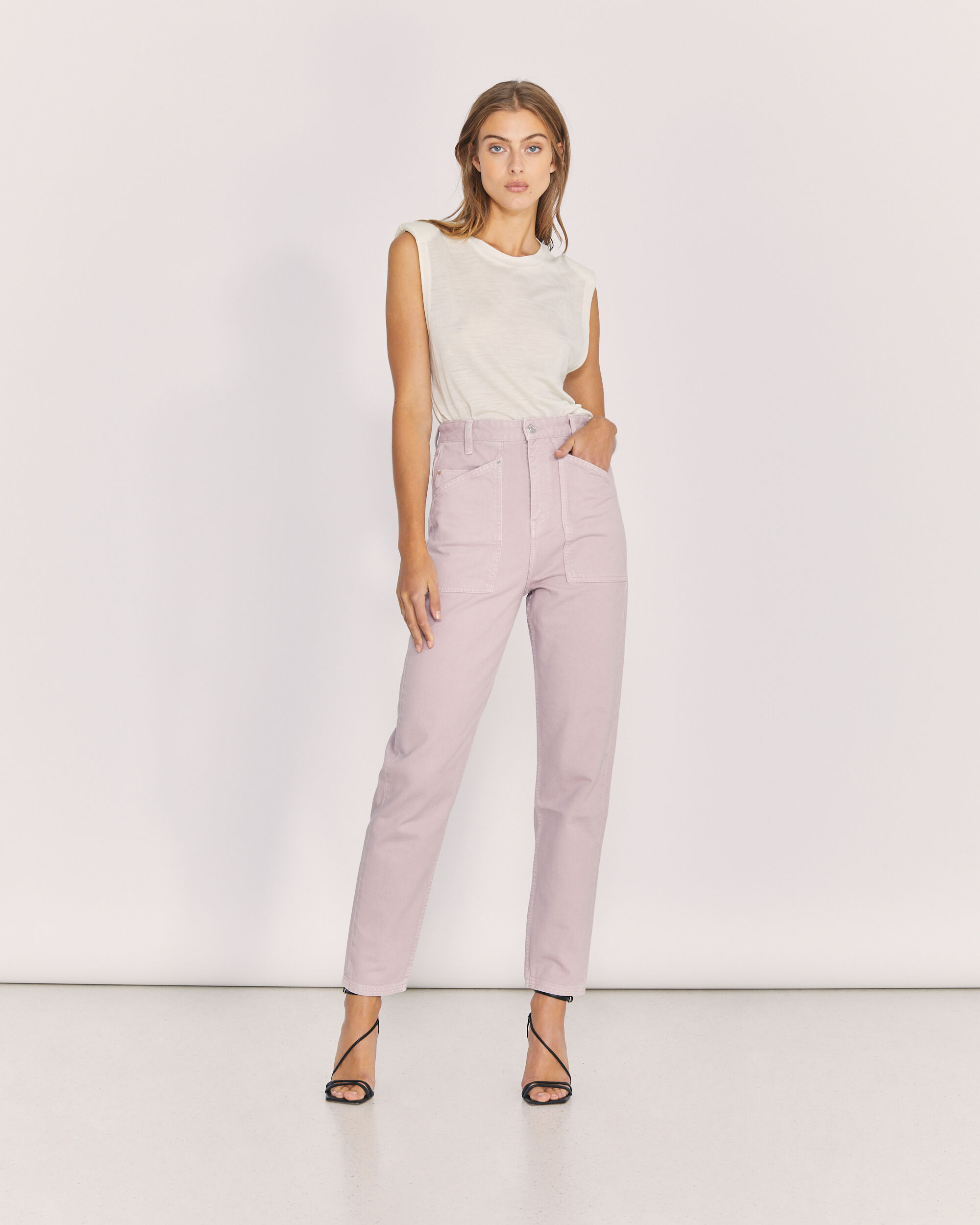 IRO GOMA TROUSERS,OLD PINK