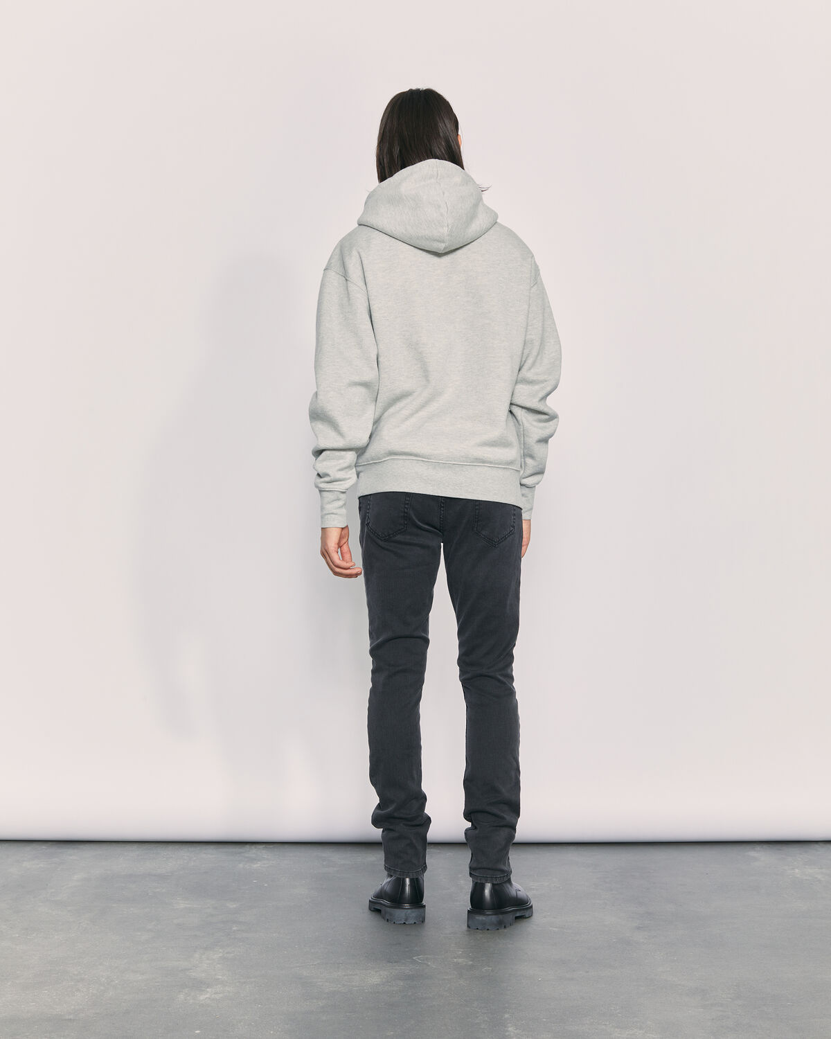 IRO - SWEAT OVERSIZE À CAPUCHE SANDERS MIXED GREY