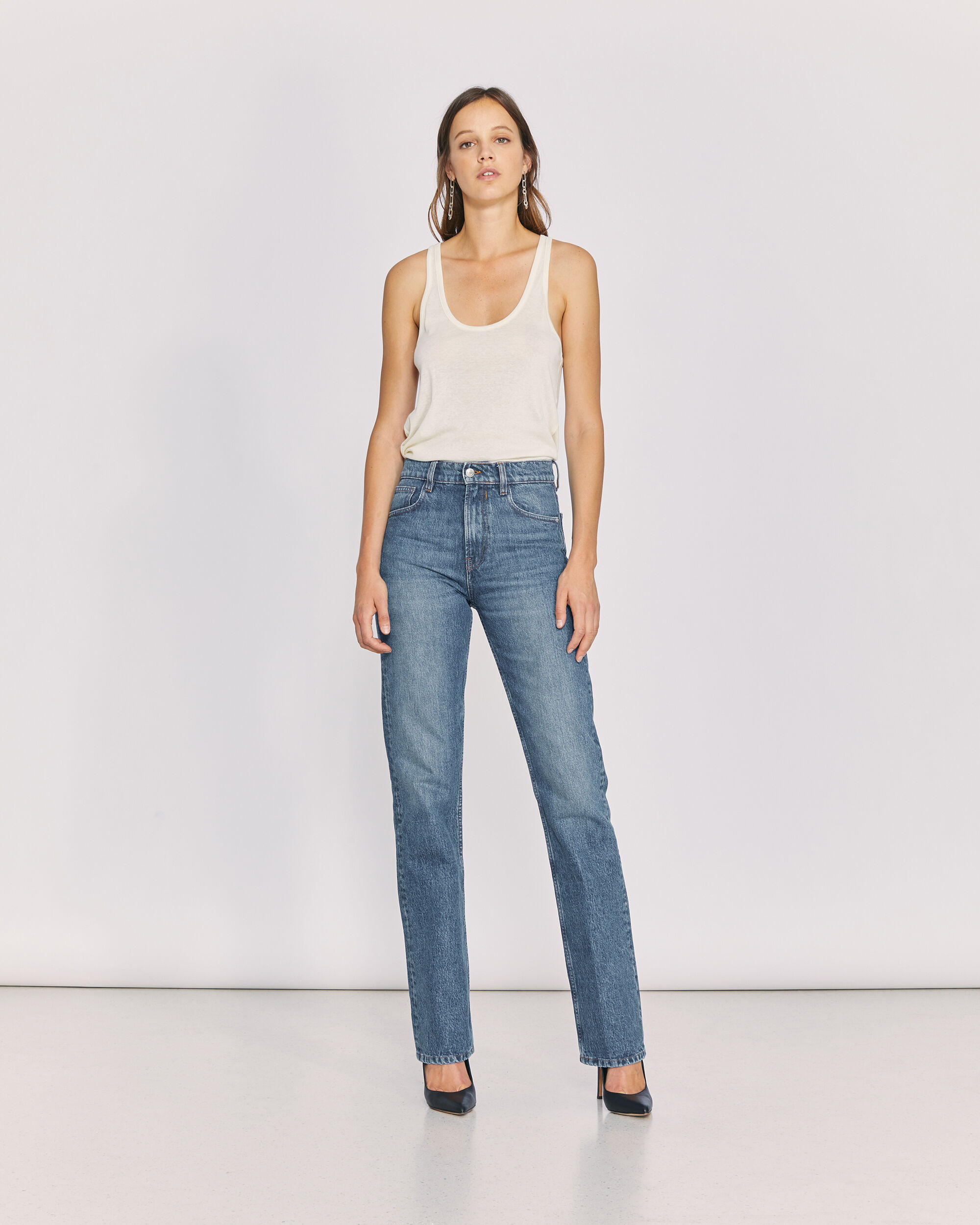 IRO SLATE JEANS,COUNTRY MID BLUE