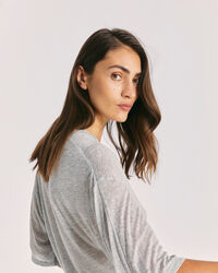 IRO - BAZI RELAXED CREW NECK T SHIRT  MIXED GREY