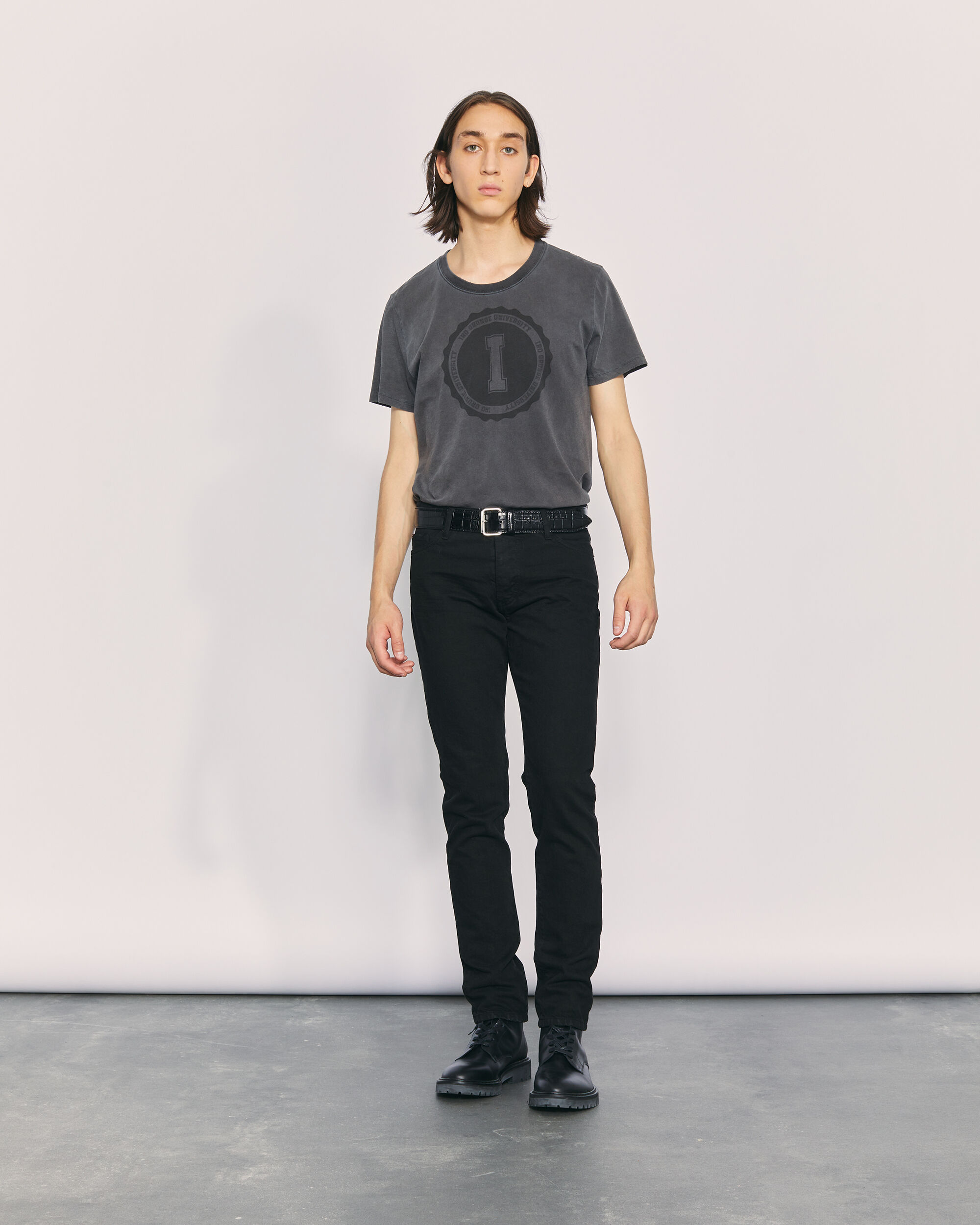 이로 티셔츠 IRO TOMAS T-SHIRT,BLACK STONE