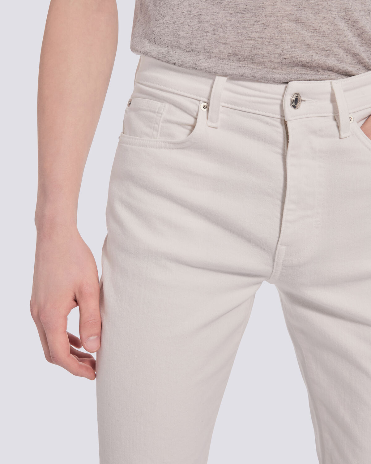 IRO - JEAN BLANC COUPE SLIM WOMUS OFF WHITE