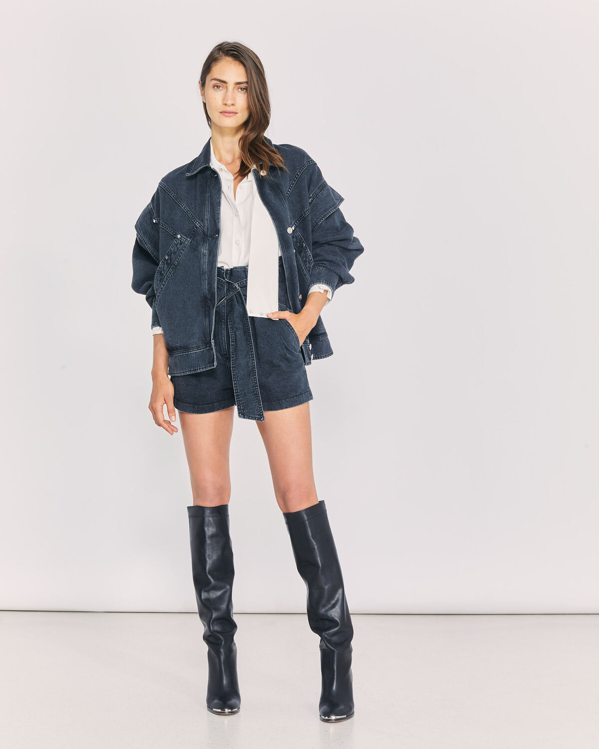 IRO - BUCKYE OVERSIZED DENIM JACKET USED BLACK