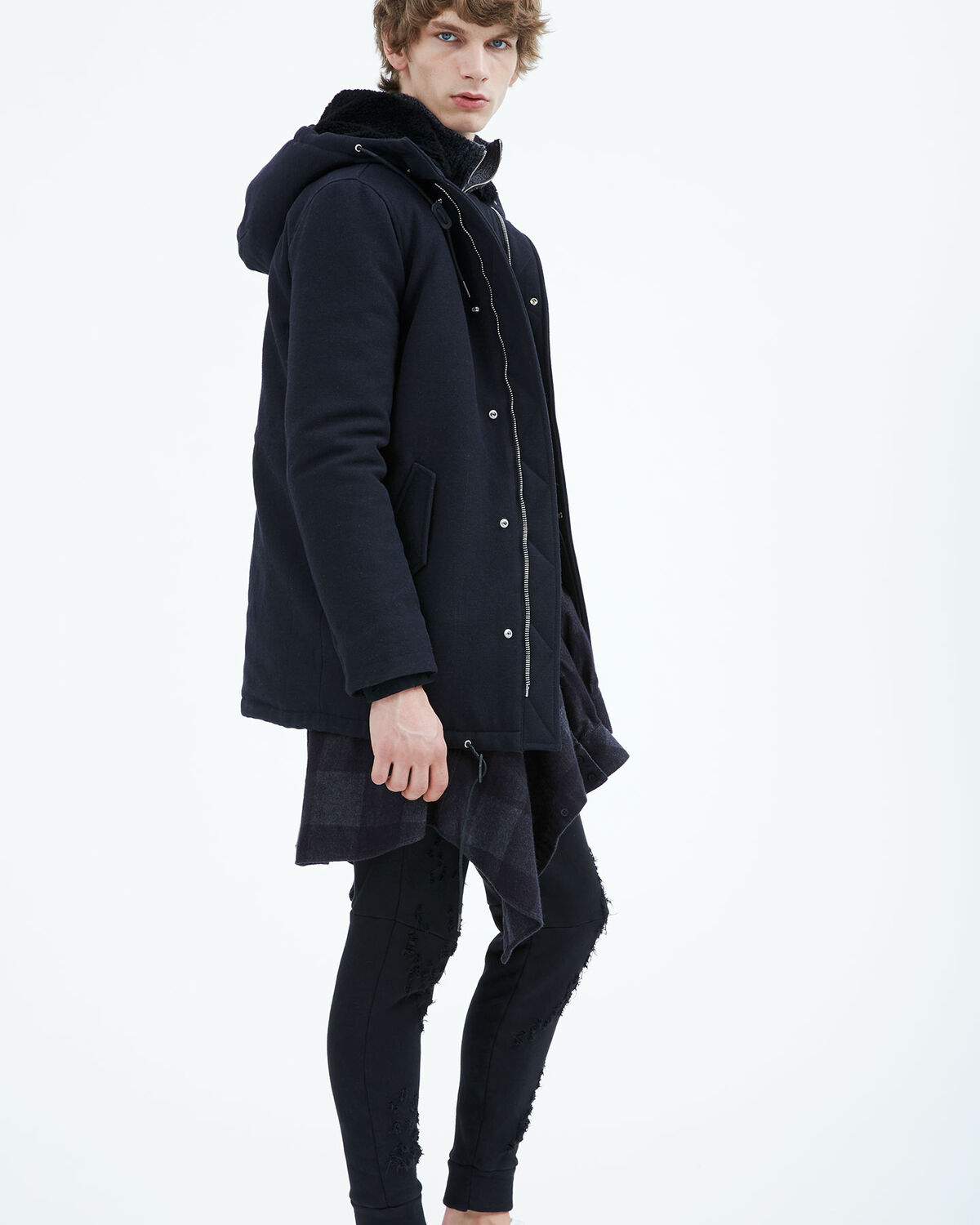 IRO - DIONE COAT DARK NAVY