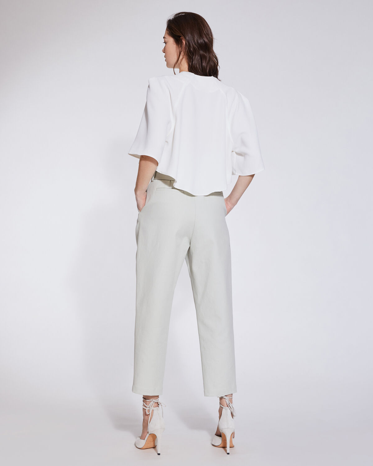 IRO - RITOKIE HIGH WAIST ANKLE TROUSERS MASTIC