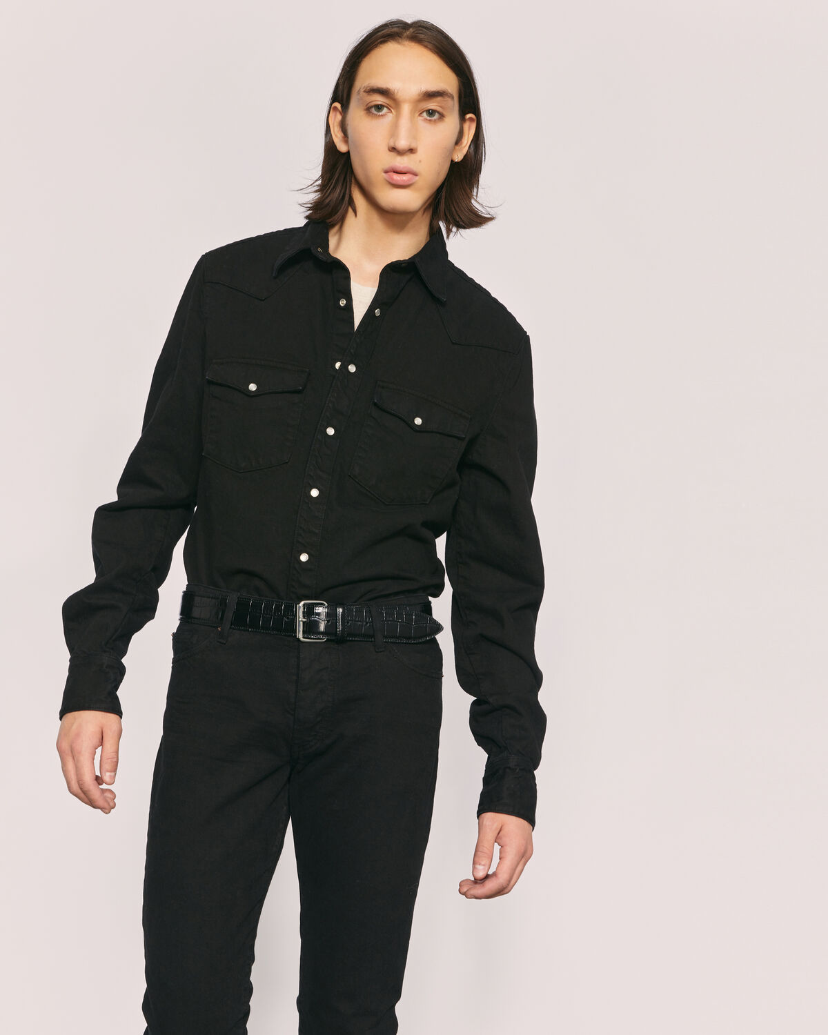 IRO - TEDO DENIM WESTERN SHIRT BLACK