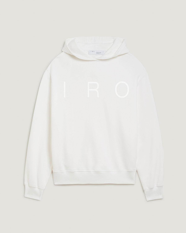 IRO - SWEAT SÉRIGRAPHIÉ À CAPUCHE YONOH WHITE