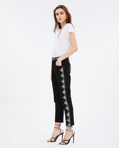 IRO - ADNAN PANTS BLACK/WHITE