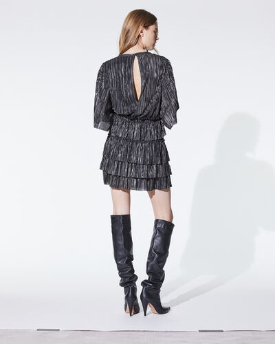 IRO - CUZCO DRESS BLACK/SILVER