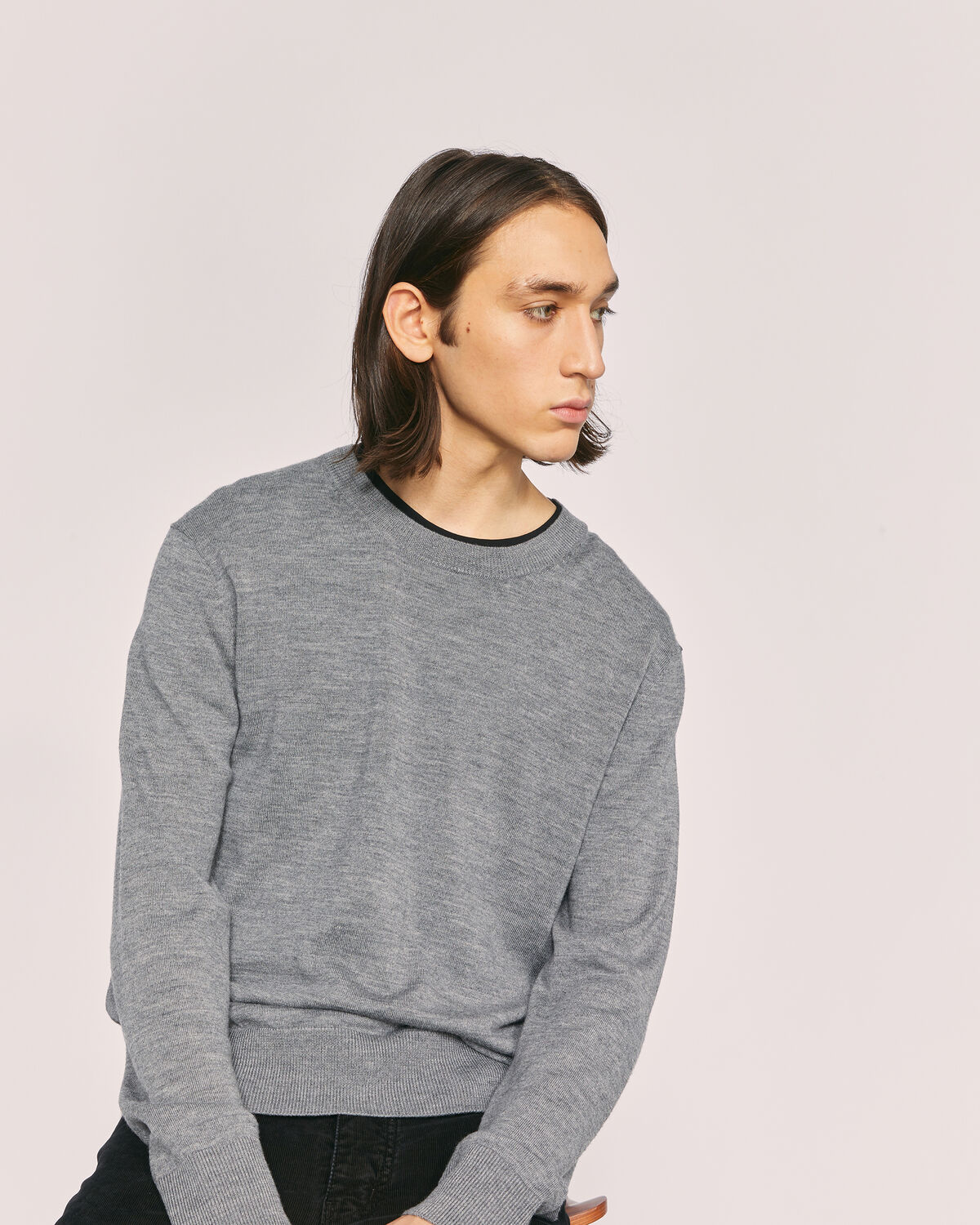 IRO - RAIN MERINO WOOL SWEATER MIXED GREY