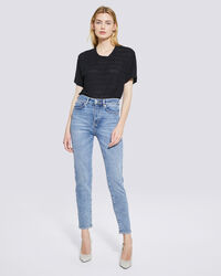 IRO - GALLOWAY MID RISE SKINNY ANKLE JEANS STONE BLUE