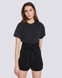 IRO - T-SHIRT COL ROND MANCHES COURTES POZO USED BLACK