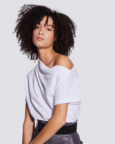 Iro MADLY DRAPED OFF THE SHOULDER T SHIRT