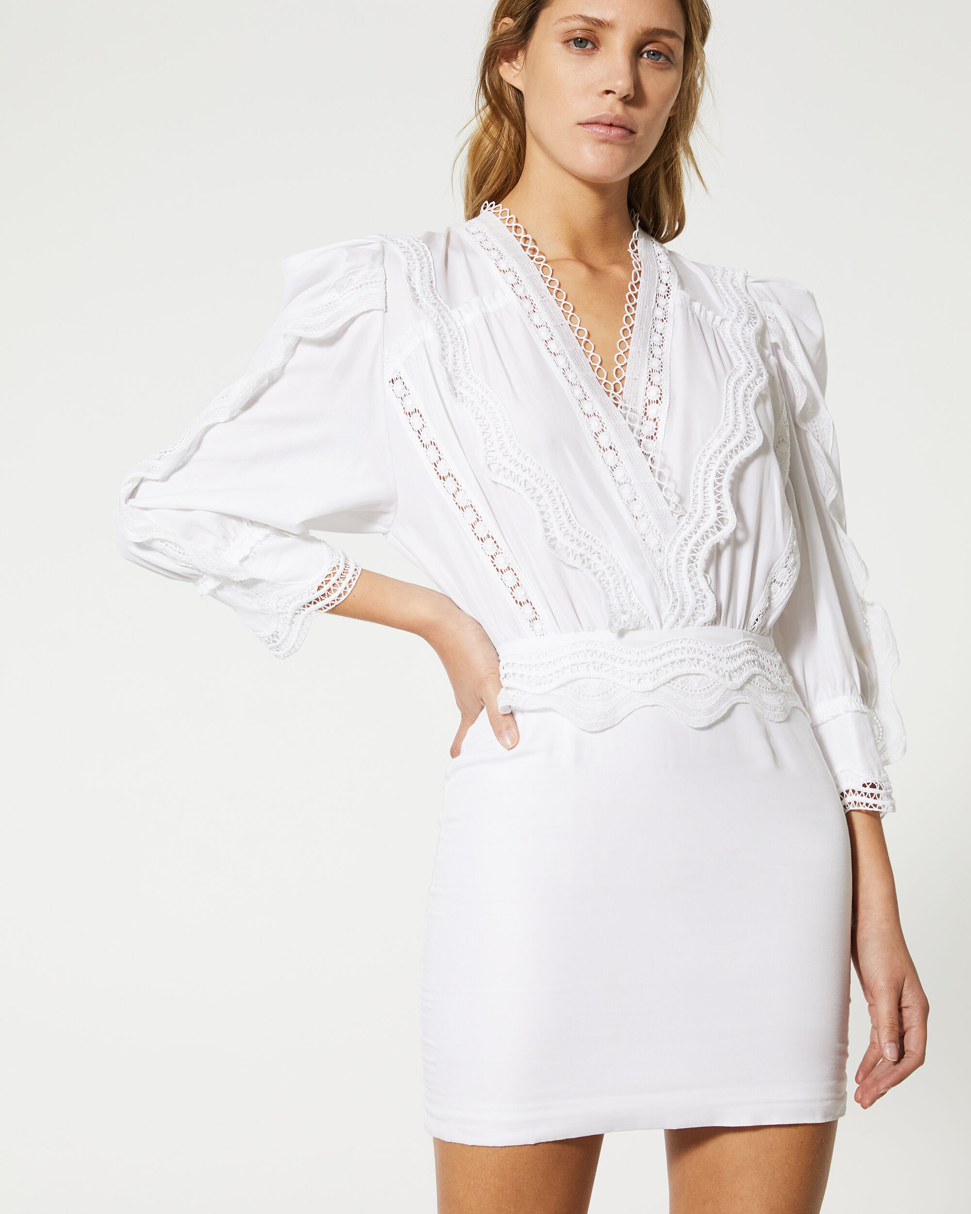 이로 원피스 IRO ROBE COLM,WHITE