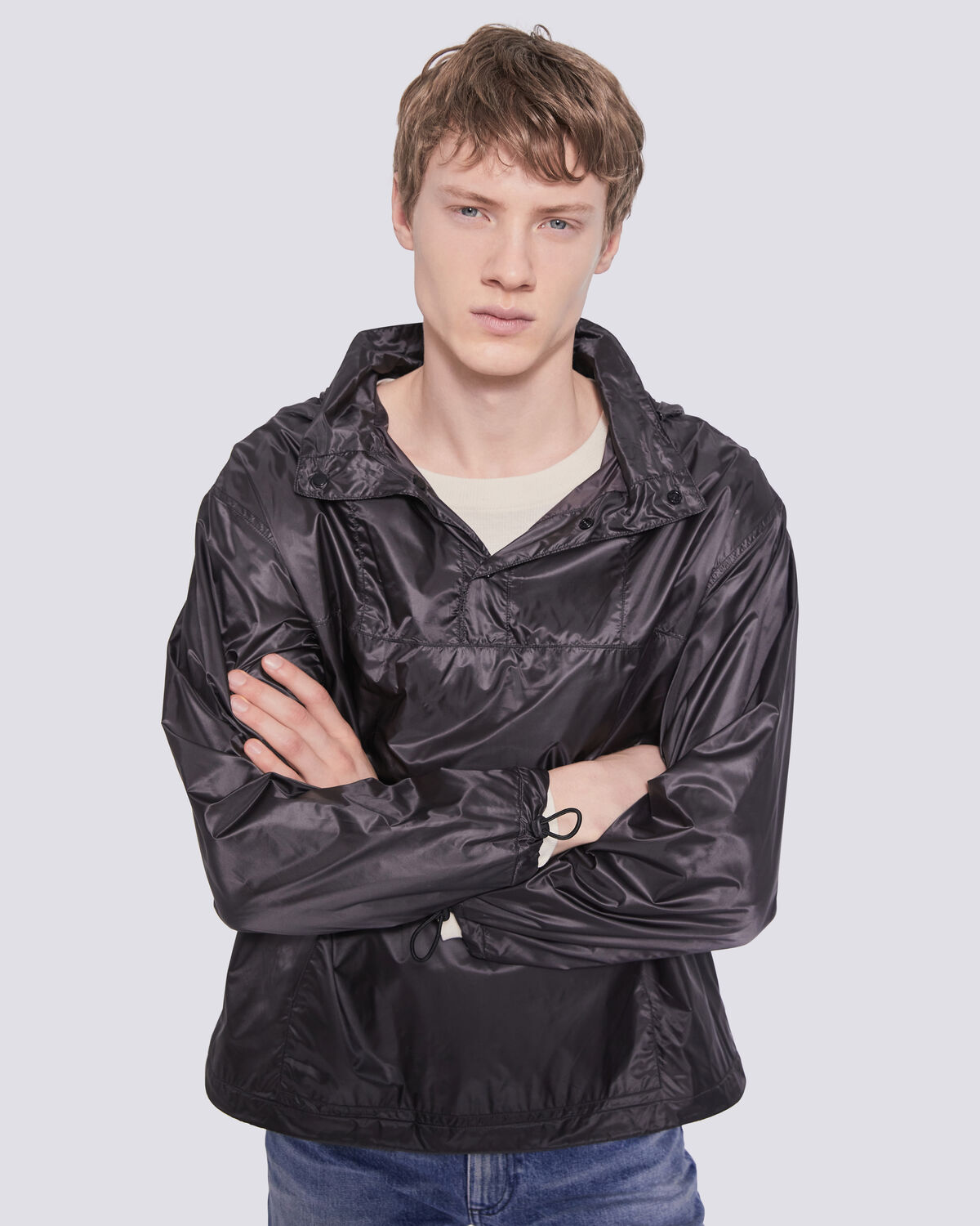 IRO - KIHEI HOODED WINDBREAKER JACKET DARK GREY