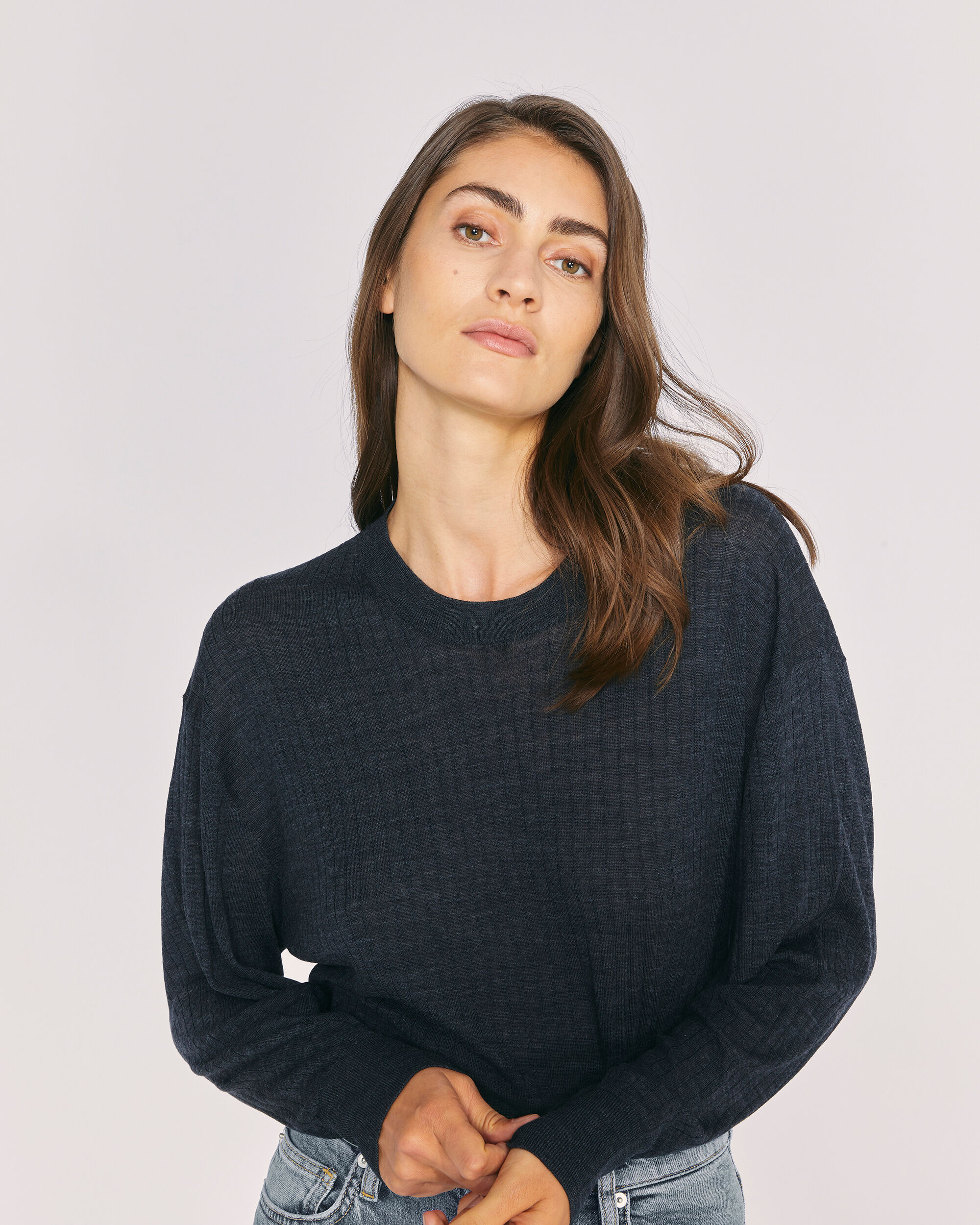 IRO TEAR SWEATER,DARK GREY