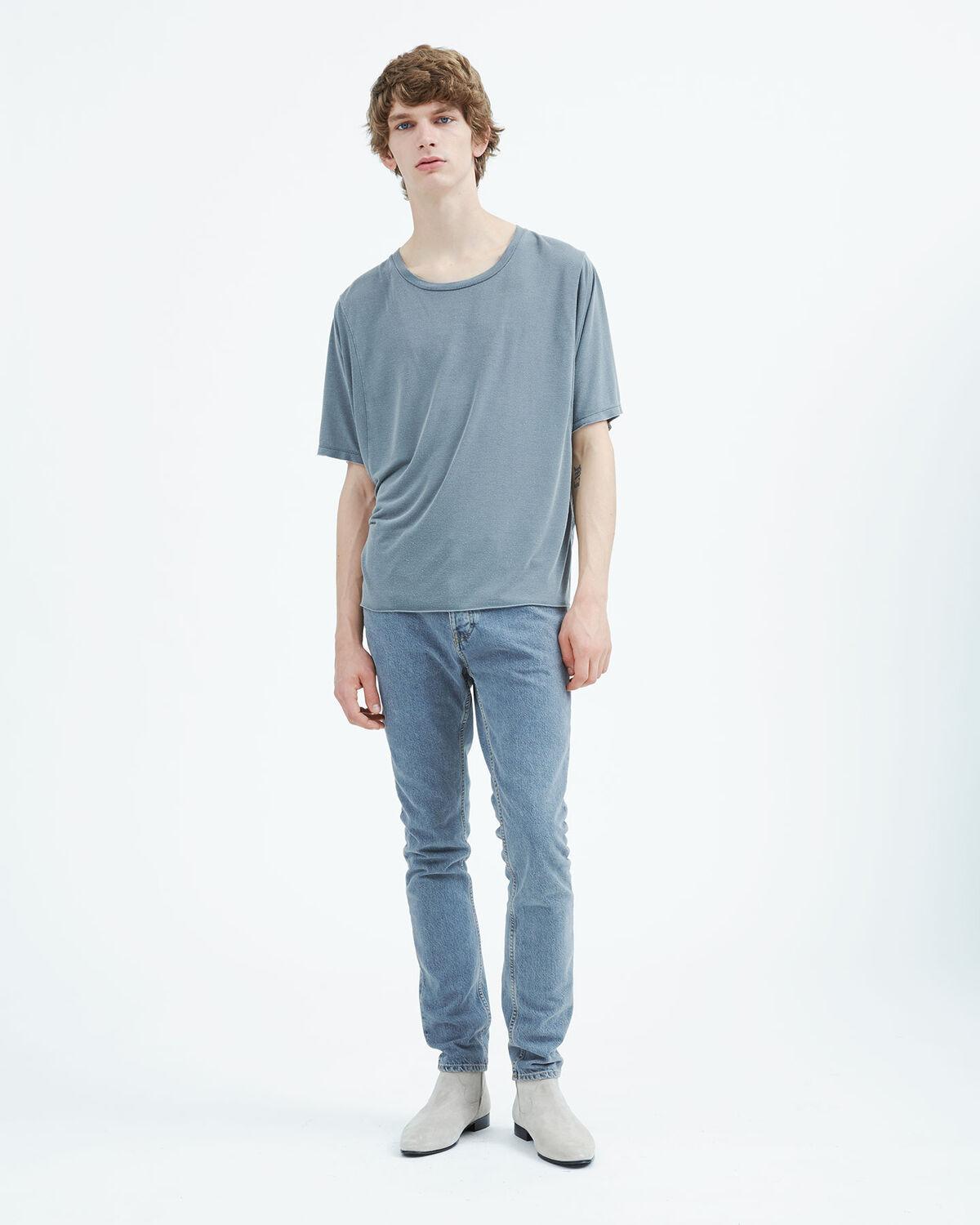 IRO - MUTIS T-SHIRT BLUE GREY