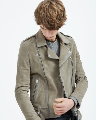 IRO - FEREBE LEATHER JACKET BLEACHED GREY