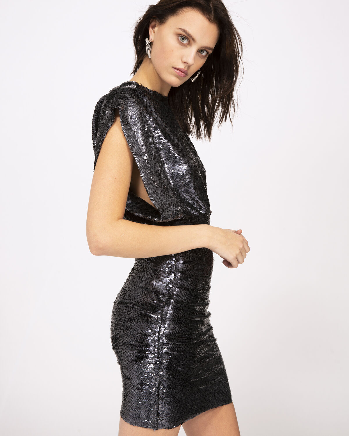 IRO - MIRACLE DRESS ANTHRACITE