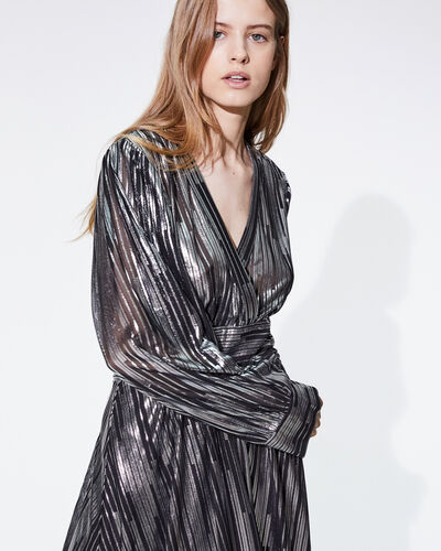 IRO - EUREKA DRESS BLACK/SILVER