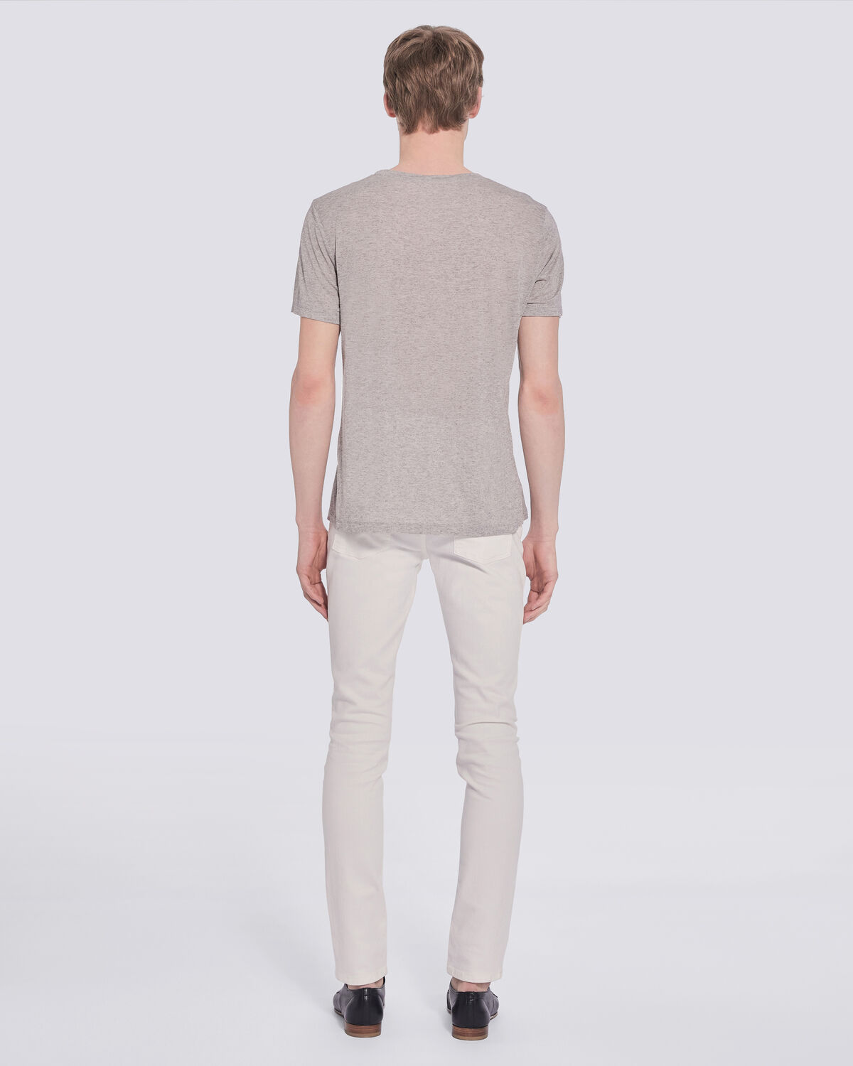 IRO - T-SHIRT GRIS CHINÉ MANCHES COURTES TYMON MIXED GREY