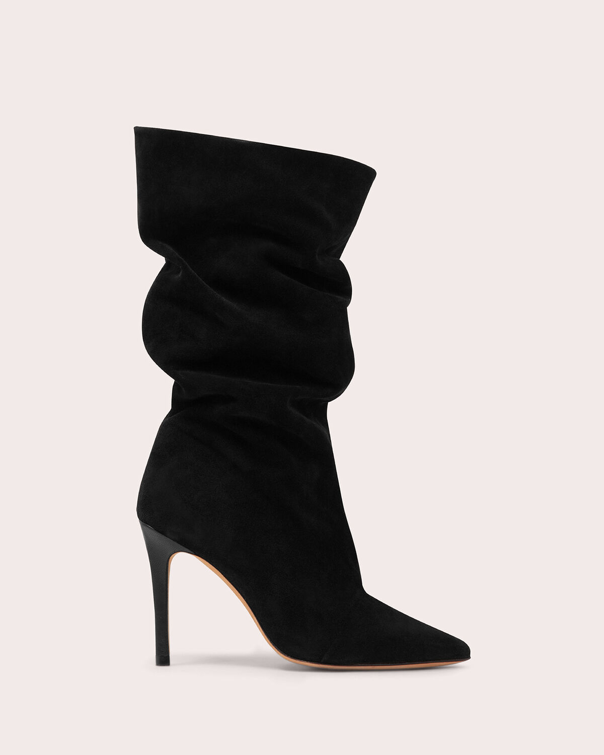 IRO - STEVIE HEELED SUEDE SLOUCH BOOTS BLACK