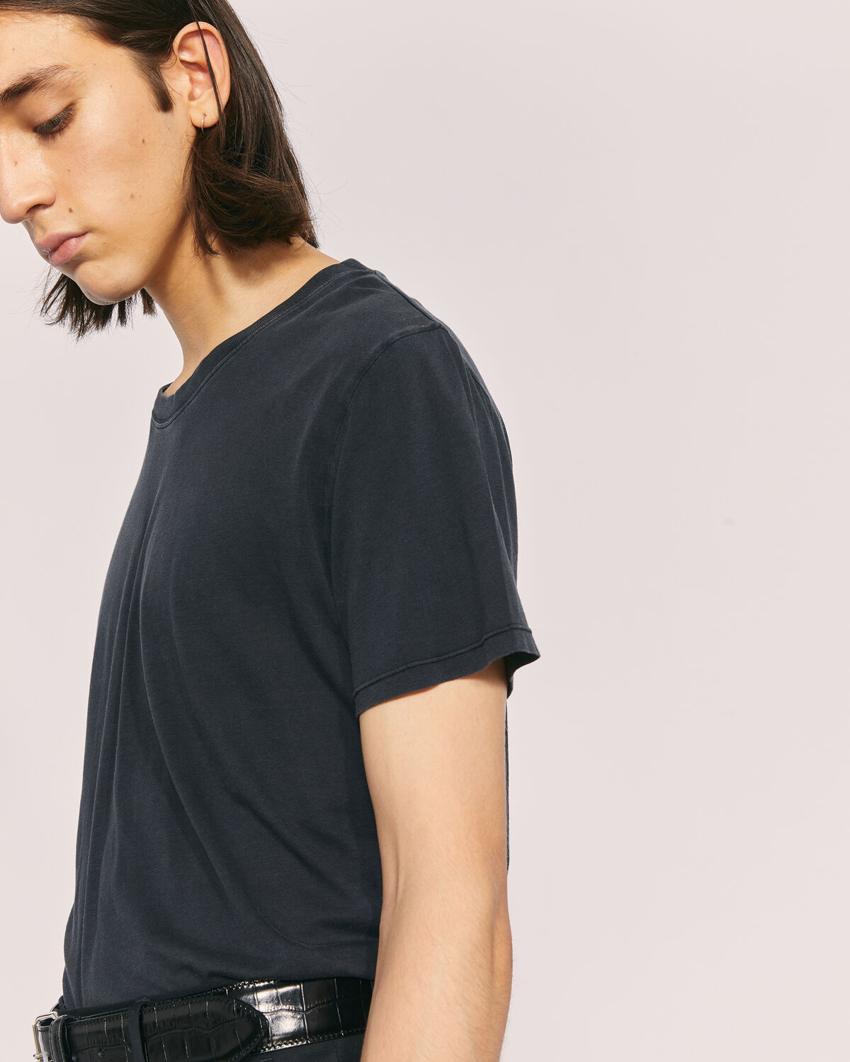 IRO - TRAVIS CREW NECK T SHIRT USED BLACK