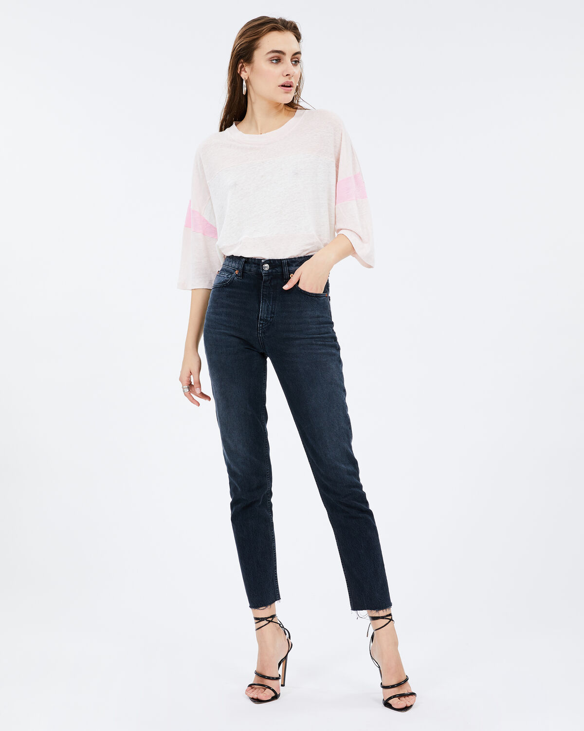 Discreet T-Shirt Cream Pearl And Pink by IRO Paris