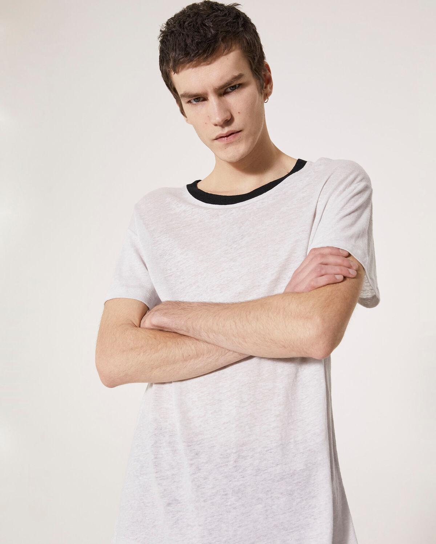 IRO - DRAYTON T-SHIRT GREY WHITE