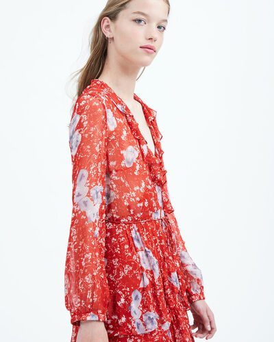 IRO - VILIA DRESS RED/GREY