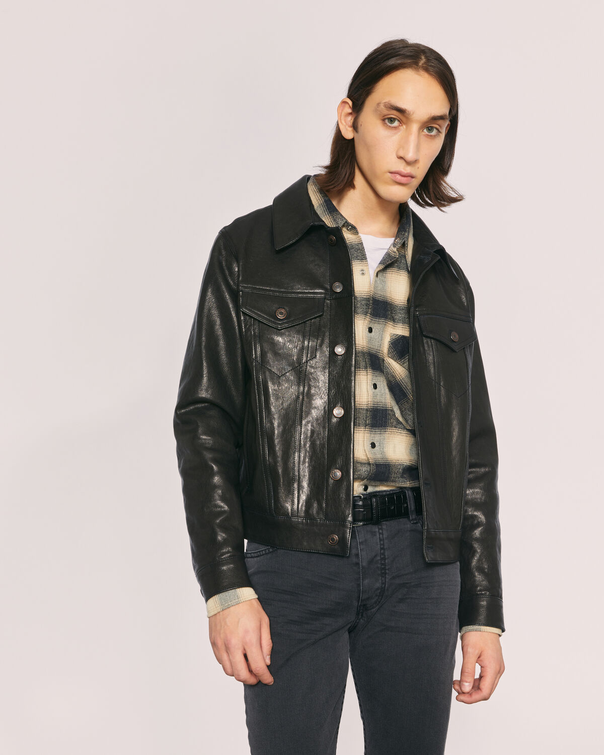 IRO - LENNIE LEATHER JACKET BLACK