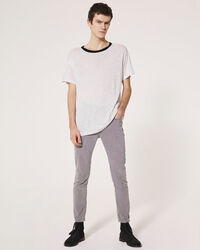 IRO - DRAYTON T-SHIRT GREY WHITE