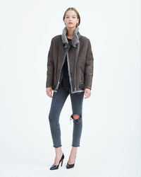 IRO - BARRETT COAT DARK KHAKI/KHAKI