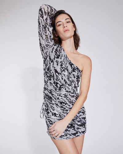 IRO Mini dresses KALLAR METALLIC ONE SHOULDER MINI DRESS
