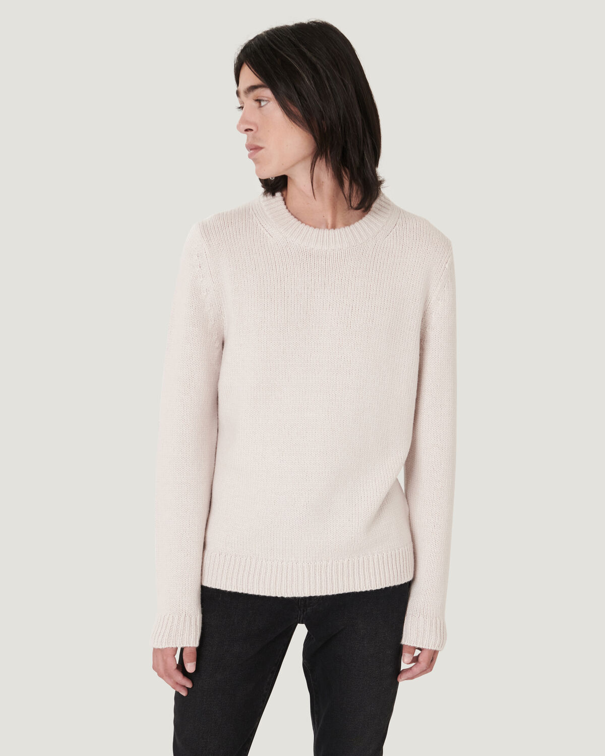 IRO - PULL ÉPAIS COL ROND HOLDEN DIRTY WHITE
