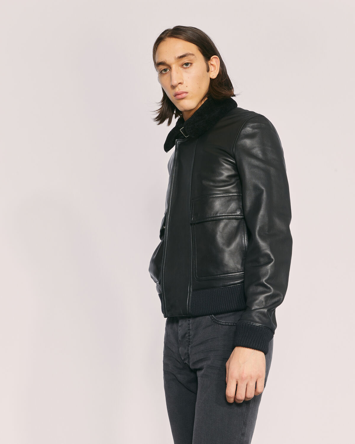 IRO - VOLF LEATHER JACKET BLACK